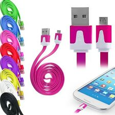 1M 2M 3Meter Flat Micro USB Data Sync Cable Charger for Samsung Galaxy HTC SONY