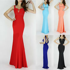 Shiny SEXY Beading Prom Wedding Gown Mermaid Formal Long Evening Dresses In 6-18