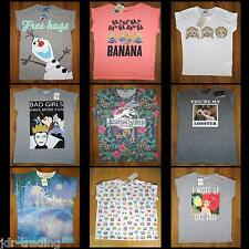 Disney PETER PAN MERMAID BAMBI NEMO JUNGLE BOOK BART T Shirt Top UK 6-20 Primark