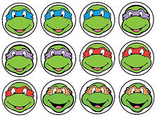 "1.5-2.5"" TMNT FACE NINJA TURTLES CHARACTER WALL SAFE STICKER BORDER CUT OUT"