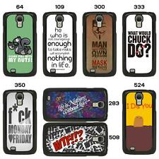 SAYINGS QUOTES & SLOGONS CASE FOR ALL SAMSUNG GALAXY MOBILE PHONE COVER