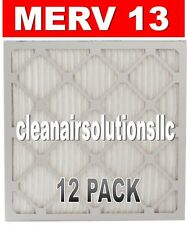 12 PACK - MERV 13 - FURNACE AC PLEATED AIR FILTERS - BEST QUALITY AND PRICE