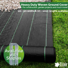 Ground cover, Landscape fabric, Weed membrane 2m Pegs Staples