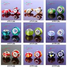 p001m97 Cute Murano Glass Silver Plated Spacer Beads Fit European Charm Bracelet