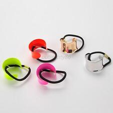 Hot Plastic Alloy Arch Hair Elastic Ponytail Holder Hairband Hair Rope 5 Colors