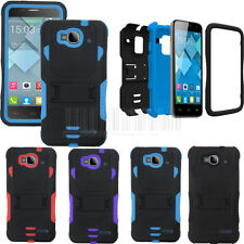 Hybrid Tuff Tri-layer Armor Case Cover For Alcatel One Touch Idol Mini OT 6012D