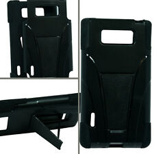 BLACK & BLACK T-Stand Hybrid Cover for LG Optimus L7 P705G