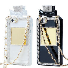 Fashion Perfume Bottle Shaped Chain Handbag Case Cover For Apple Iphone 5 5S