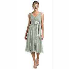 Stunning Rhinestone Chiffon Cocktail Party Bridesmaid Dress Evening Wear Grey