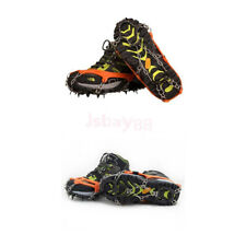 Portable Ice Walking Cleat Boot Grippers Snow Shoes Spike Grip Chain Crampons