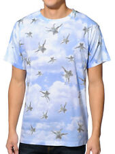 A-Lab Sublimation T-Shirt Raining Kittens Blue Sky Falling Cats Graphic Print S