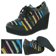 Very Volatile Acuna Women's Wedge Sneakers Casual Shoes Aztec