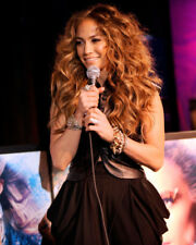 JENNIFER LOPEZ HOLDING MICROPHONE PHOTO OR POSTER