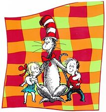 "5-9"" DR SEUSS CAT HAT KIDS GIRL BOY WALL STICKER GLOSSY BORDER CHARACTER CUT OUT"