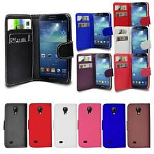 PU Leather Wallet Case Cover For Samsung Galaxy S4 I9500 I9505 + Film Protector