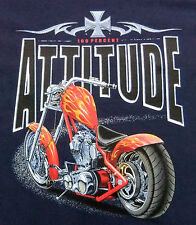 Harley High Neck Chopper-Custombike T-Shirt  in navy, mit Motiv  Gr S - XXXL