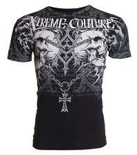 Xtreme Couture AFFLICTION Mens T-Shirt SHRAPNEL Skull Tattoo Biker UFC M-4XL $40