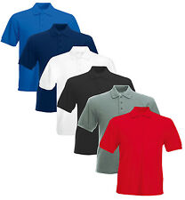 Mens & Womens Olympic Plain Polo Shirt Short Sleeve