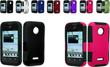 Mesh Hybrid Cover Case For T-Mobile Huawei Prism 2 II U8686 Phone