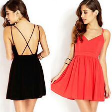 CHEAP Vintage Womens Sexy Backless V-Neck Mini Short Evening Prom Club Pub Dress