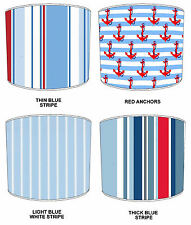 Nautical Maritime Stripe Sailing Boat Lampshades Ideal To Match Childrens Duvets