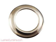 "Curtain Drapery Chrome Metal Grommets Washer #12 Inner Diameter 1-9/16"" Pack of"