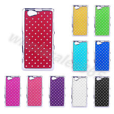 Rhinestone Bling Design Star Colorful PC Back Fashion Case Cover For Sony Phones
