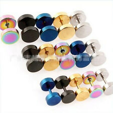 Stainless Steel Fake Cheater Ear Plugs Gauge Illusion Body Jewelry Pierceing