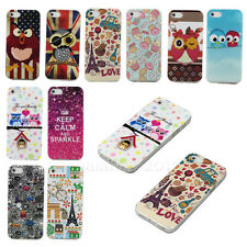 Lovely Owl Patterned Style Soft TPU Rubber Back Skin Protect Case Cover
