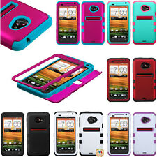 TUFF Hybrid SnapOn Protector Phone Cover Case Accessory C-1 for HTC EVO 4G LTE