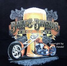 T-Shirt Biker- Chopper Harley Custombike Bikes & Beer Motiv  Gr. S-XXXL