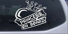 Princess On Board Heart and Crown Car or Truck Window Laptop Decal Sticker