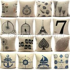 Simple Fashion linen Throw Pillow Cases Home Decorative Cushion Cover Square 17""