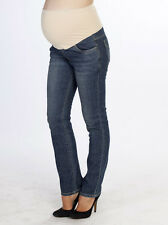 Angel Maternity Comfortable Stretch Jeans in Straight Cut - Stone Wash 5019BE