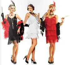 1920S ROARING 20'S ADULT HOLLYWOOD FLAPPER GATSBY CHARLESTON COSTUME WHITE DRESS