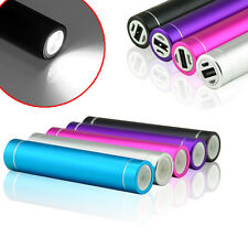 Portable External USB Cell Phone Backup Battery Charger Power Bank FLASHLIGHT