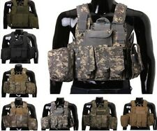 Airsoft Military Molle Combat Assault Plate Carrier adjustable Tactical Vest