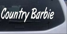 Country Barbie Car or Truck Window Laptop Decal Sticker