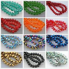 Wholesaler Faceted Glass Crystal Rondelle Diy Findings Loose Spacer Beads 12x8mm