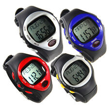 Pulse Heart Rate Monitor Calories Counter Fitness Watch StopWatch Alarm USA