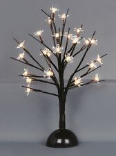 CHRISTMAS DECORATIONS 35CM LED CHERRY BLOSSOM TREE 2 COLOURS BATTERY TIME LIGHTS