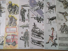 A4 Die Cut Cardmaking Decoupage Sheet Fire,Police,Army Services Various Designs