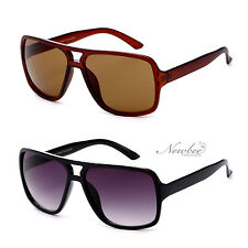 Flat Top Aviator Sciroko Style Square Lens Sunglasses Sporty Unisex