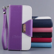 Flip Leather Pouch Credit Card Hold Wallet Stand Hard Protect Skin Case Cover