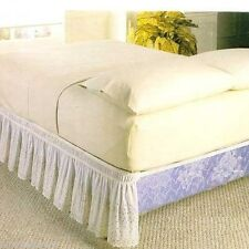 NEW WRAP AROUND EYELET LACE BED SKIRT / DUST RUFFLE