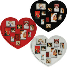 11 MULTI PHOTO PICTURE DISPLAY FRAME HEART SHAPE LARGE FAMILY HOME GIFT NEW SET