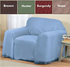 SOLID COLOR CHAIR FURNITURE THROW COVER, 70 Inches x 90 Inches