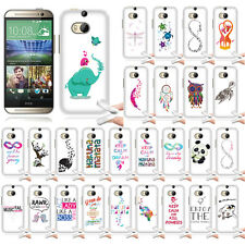 For HTC One 2 M8 Case Flexi TPU Soft Skin Cover Act Like Lady Think Like A Boss