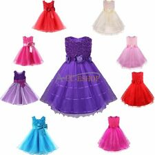 Flower Girl Princess Dress Kids Party Pageant Wedding Bridesmaid Tutu Dresses