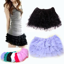 Women Girls Tutu Party Ballet Dancewear Dress Skirt Pettiskirt 4Lawer Mini Skirt